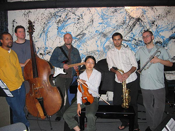 Inner Constellation Sextet Musicians, left to right: NASHEET WAITS, TOM ABBS, BRUCE EISENBEIL, JEAN COOK , AARON ALI SHAIKH, NATE WOOLEY